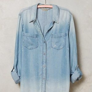 Anthropologie Wind Washed Chambray Shirt